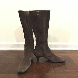 AuthPrada Stretch Suede Leather Mid Boots,9US(G3)